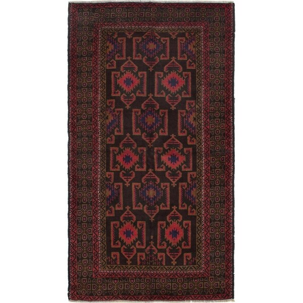 ECARPETGALLERY Hand-knotted Kazak Red Wool Rug - 4'0 x 6'7