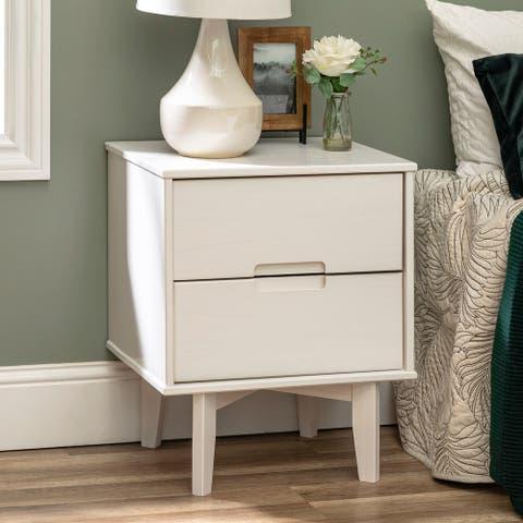 Carson Carrington 20-inch Longyearbyen 2-drawer Mid-century Modern Nightstand
