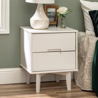 Carson Carrington 20-inch Longyearbyen Mid-century Modern Nightstand, Brown, 2-drawer Storage Table