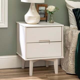 "20"" Mid-Century 2-Drawer Nightstand"