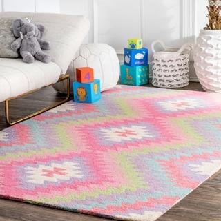 nuLOOM Handmade Wool Southwestern Ikat Area Rug
