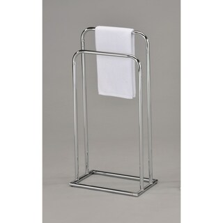 Contemporary Towel Rack-Chrome