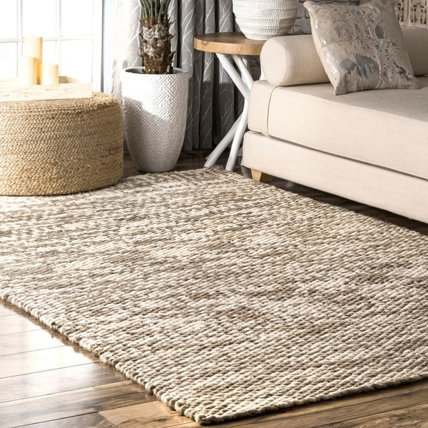 The Curated Nomad Kowolska Solid Ombre Natural Hand Loomed Jute Area Rug