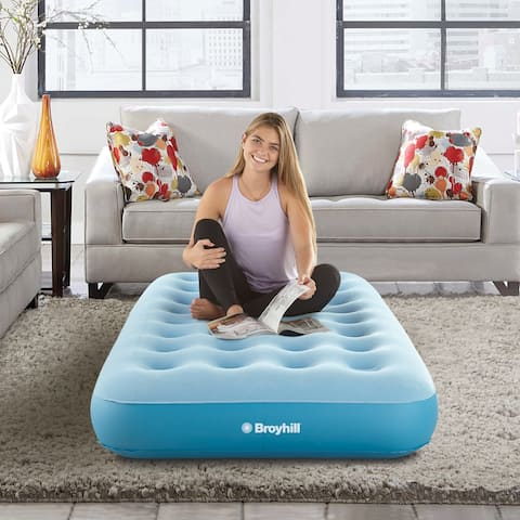 Broyhill 10 inch Sleep Express Comfort Top Coil Air Bed Mattress, with External Pump