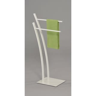 Contemporary Towel Rack-White