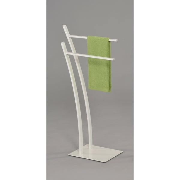 Contemporary Towel Rack-White