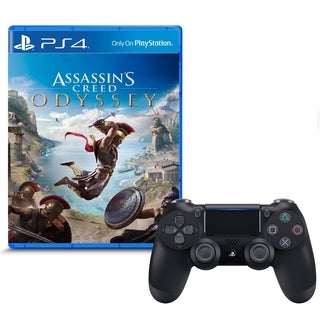 Assassin's Creed Odyssey and DualShock 4 Wireless Controller