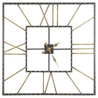 "Thames Casual Black/Gold Wall Clock - 40"" W x 1.5"" D x 40"" H"