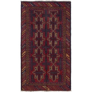 ECARPETGALLERY Hand-knotted Teimani Red Wool Rug - 3'5 x 6'4