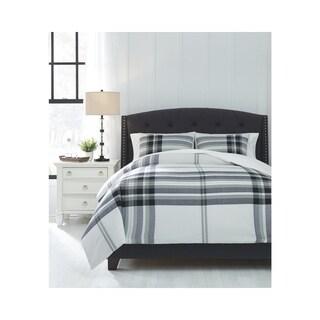 Stayner Black/Gray King Comforter Set