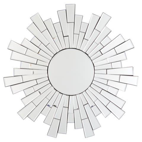 """Braylon Contemporary Accent Mirror - Silver - 32"""" W x 1.25"""" D x 32"""" H"""