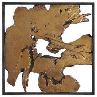 "Fabiana Contemporary Black/Gold Wall Decor - 26.13"" W x 1.63"" D x 26.13"" H"