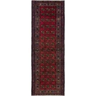 ECARPETGALLERY Hand-knotted Finest Rizbaft Dark Copper Wool Rug - 2'11 x 8'10