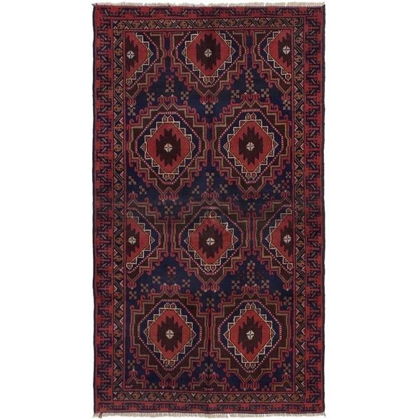 ECARPETGALLERY Hand-knotted Kazak Dark Copper Wool Rug - 3'3 x 5'11