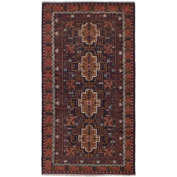 ECARPETGALLERY Hand-knotted Finest Rizbaft Light Brown Wool Rug - 3'5 x 6'5