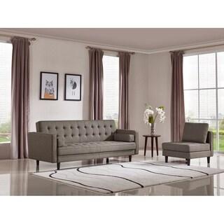 Divani Casa Kestin Modern Brown Sofabed & Chair Set