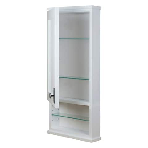Sanford Series Open Shelf On the Wall White Cabinet