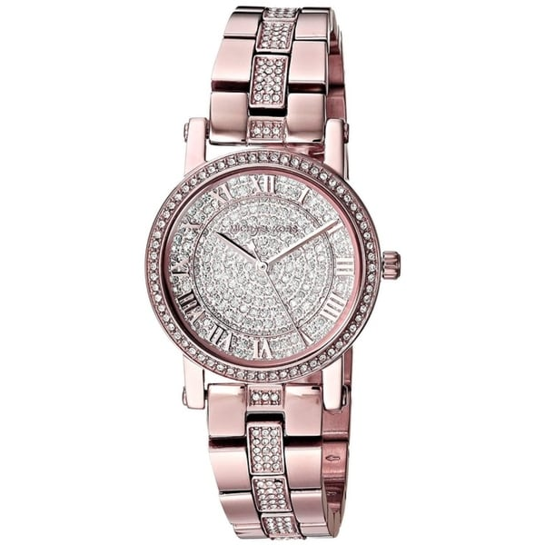 73886f9e13bc Shop Michael Kors Rose Gold-Tone Ladies Watch MK3776 - Free Shipping Today  - Overstock - 25483307