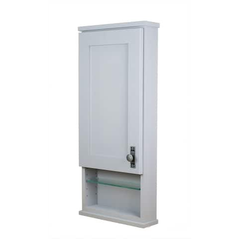 Sanford Series Open Shelf On the wall Primed Cabinet