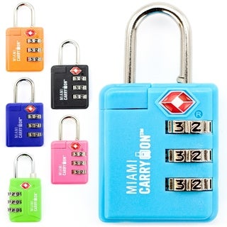 Miami CarryOn TSA Approved Combination Padlock - TSA Luggage Lock