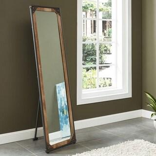 Furniture of America Revo Industrial Free Standing Mirror - Black/Copper