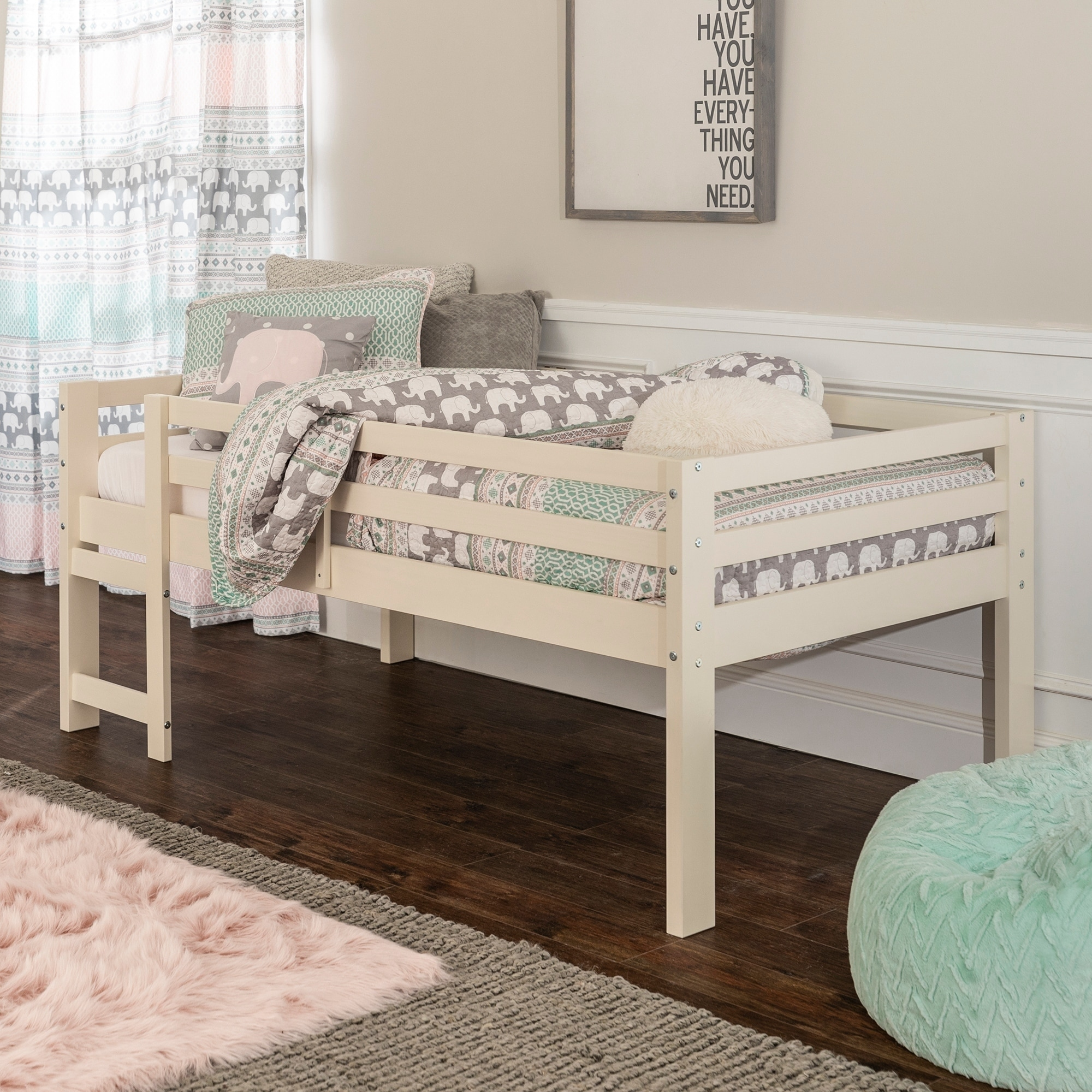 big sale 8cc16 ca697 Taylor & Olive Browning Twin Low Loft Bed