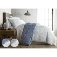 Modern Foliage Reversible Duvet Cover and Sham Set