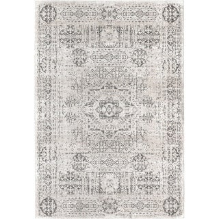 The Curated Nomad Islais Foggy White Vintage Transitional Area Rug