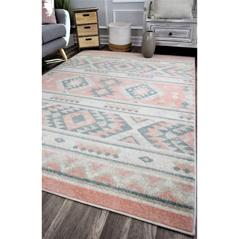 Desert Tribal Transitional Rug Peach