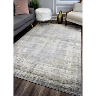 Maxwell Vintage Transitional Rug Earthy Grey
