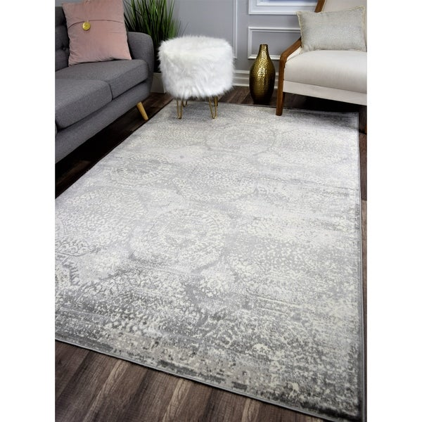 Maxwell Vintage Transitional Rug Silver