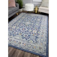 The Curated Nomad Ingleside Blue Vintage Transitional Rug