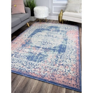 The Curated Nomad Ingleside Rose Vintage Transitional Rug