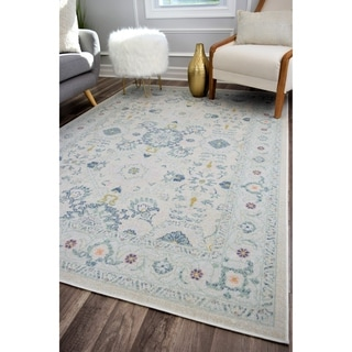 The Curated Nomad Ingleside White Vintage Transitional Rug