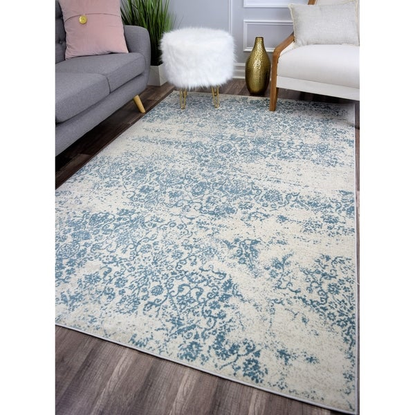 Maxwell Vintage Transitional Rug Cool Waters