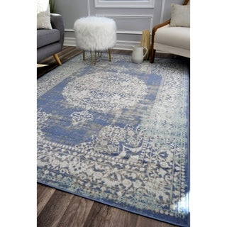 The Curated Nomad Ingleside Cerulean Vintage Transitional Rug