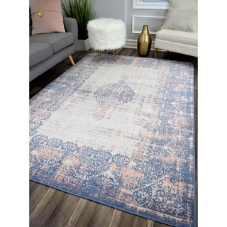 The Curated Nomad Ingleside Blush Medallion Vintage Rug
