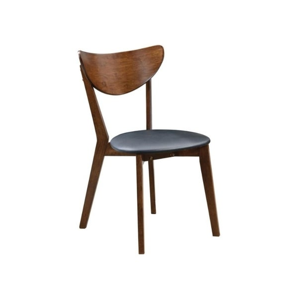 Acres Black Leatherette Dining Chairs (Set of 2)