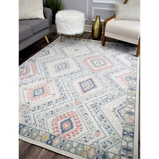 Zyra Vintage Transitional Rug Pink