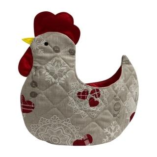 Organic Multipurpose Decorative Chicken Shaped Fabric Egg Storage Basket - Love at Heart Design