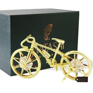 24K Gold Plated Bicycle Desk/House Ornament by Matashi
