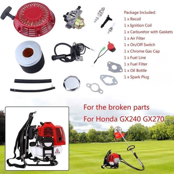 Shop Lawn Mower Fitting Kit For Honda GX240 GX270 Recoil Carburetor