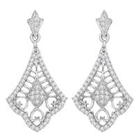 10k White Gold 3/8ct TDW Diamond Chandelier Earrings (G-H, I2)