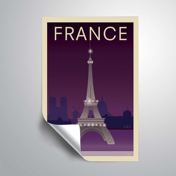 04798ce240 ArtWall 'Eiffel Tower' Removable Wall Art Mural