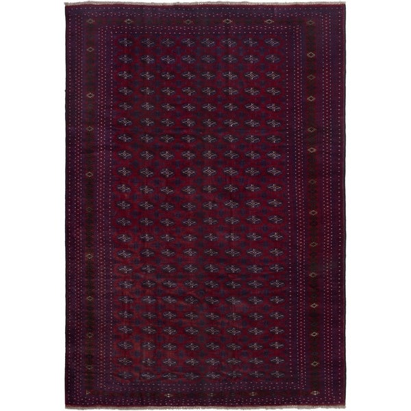 ECARPETGALLERY Hand-knotted Finest Rizbaft Red Wool Rug
