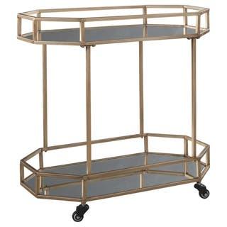 Daymont Gold Finish Bar Cart