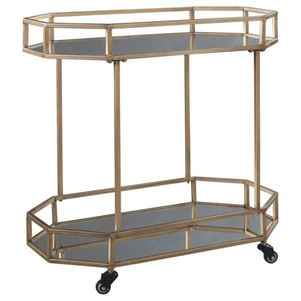 Daymont Gold Finish Bar Cart. Opens flyout.