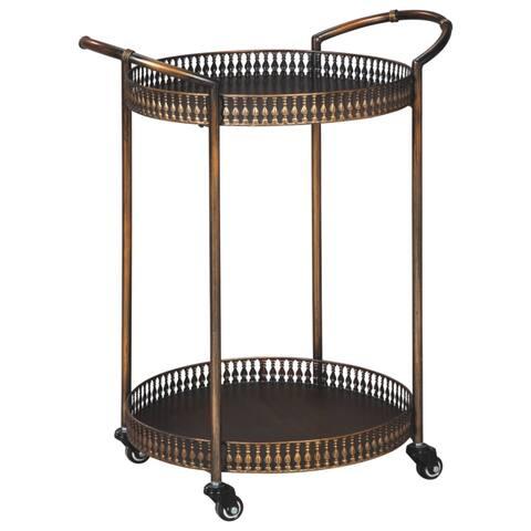 Clarkburn Bronze Finish Bar Cart