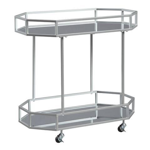 Kadinburg Silver Finish Bar Cart