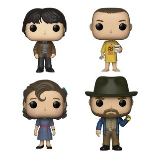 Funko POP! TV Stranger Things Collectors Set - Mike at Dance, Eleven in Burger, Eleven at Dance, Hopper with Flashlight